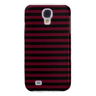 Dünne Streifen - schwarz und dunkles Scharlachrot Galaxy S4 Hülle