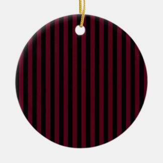 Dünne Streifen - schwarz und dunkles Scharlachrot Keramik Ornament