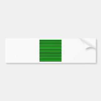 Dünne Streifen - schwarz und elektrisches Grün Autoaufkleber