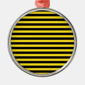 Dünne Streifen - schwarz und goldenes Gelb Silbernes Ornament