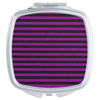 Dünne Streifen - schwarz und lila Schminkspiegel