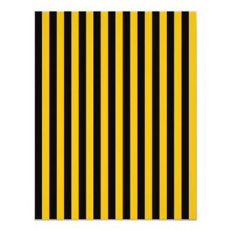 Dünne Streifen - Schwarzes und Bernstein 10,8 X 14 Cm Einladungskarte