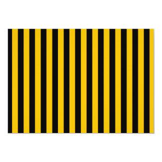 Dünne Streifen - Schwarzes und Bernstein 12,7 X 17,8 Cm Einladungskarte