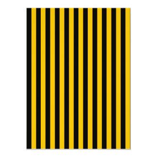 Dünne Streifen - Schwarzes und Bernstein 14 X 19,5 Cm Einladungskarte