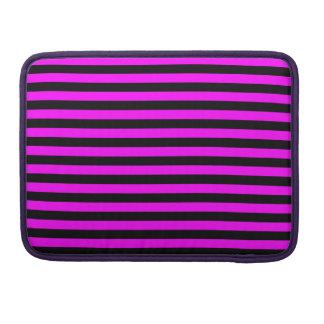 Dünne Streifen - Schwarzes und Fuchsie Sleeve Für MacBooks