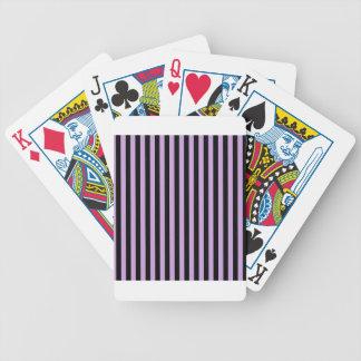 Dünne Streifen - Schwarzes und Glyzinien Bicycle Spielkarten