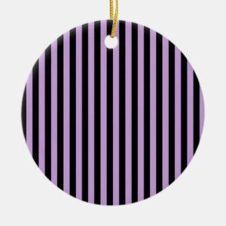 Dünne Streifen - Schwarzes und Glyzinien Keramik Ornament