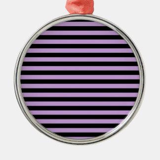 Dünne Streifen - Schwarzes und Glyzinien Silbernes Ornament