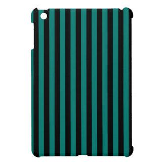 Dünne Streifen - Schwarzes und Kiefern-Grün iPad Mini Hülle