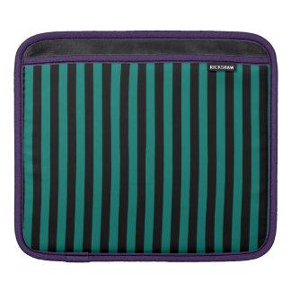 Dünne Streifen - Schwarzes und Kiefern-Grün iPad Sleeve