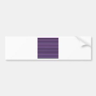 Dünne Streifen - Schwarzes und Lavendel Autoaufkleber