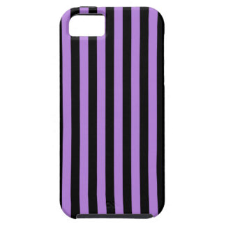 Dünne Streifen - Schwarzes und Lavendel Hülle Fürs iPhone 5