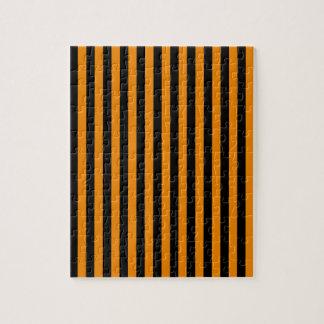 Dünne Streifen - Schwarzes und Mandarine Puzzle