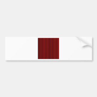 Dünne Streifen - Schwarzes und Rosso Corsa Autoaufkleber