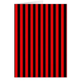 Dünne Streifen - Schwarzes und Rot Karte