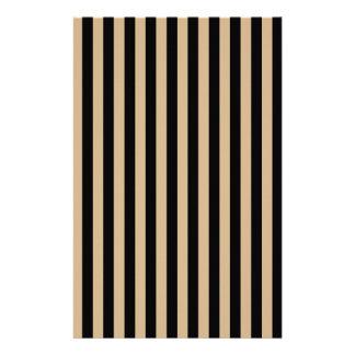 Dünne Streifen - Schwarzes und TAN Druckpapiere
