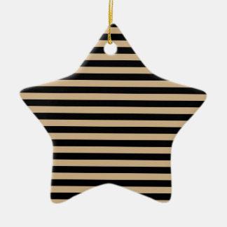 Dünne Streifen - Schwarzes und TAN Keramik Ornament