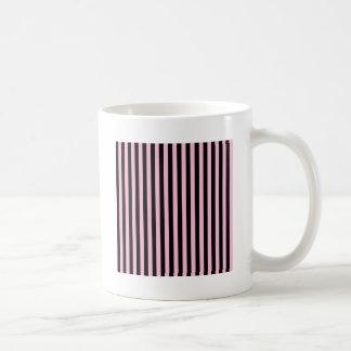 Dünne Streifen - Schwarzes und Zuckerwatte Kaffeetasse