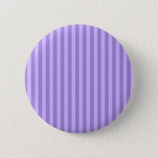 Dünne Streifen - violett und hellviolett Runder Button 5,7 Cm