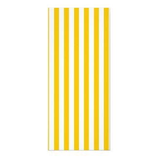 Dünne Streifen - Weiß und Bernstein 10,2 X 23,5 Cm Einladungskarte