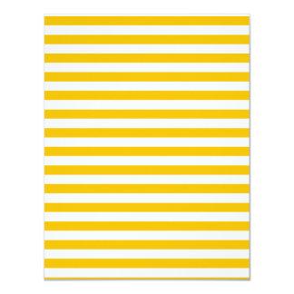 Dünne Streifen - Weiß und Bernstein 10,8 X 14 Cm Einladungskarte