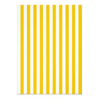 Dünne Streifen - Weiß und Bernstein 11,4 X 15,9 Cm Einladungskarte