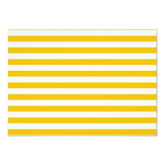 Dünne Streifen - Weiß und Bernstein 12,7 X 17,8 Cm Einladungskarte