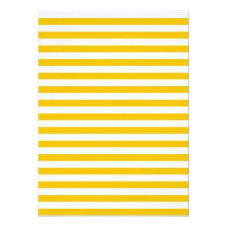 Dünne Streifen - Weiß und Bernstein 14 X 19,5 Cm Einladungskarte