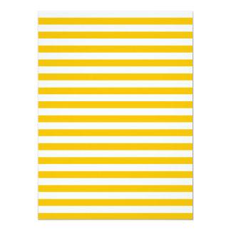 Dünne Streifen - Weiß und Bernstein 16,5 X 22,2 Cm Einladungskarte