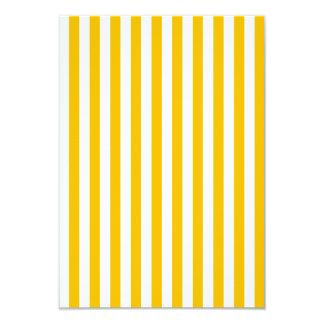 Dünne Streifen - Weiß und Bernstein 8,9 X 12,7 Cm Einladungskarte