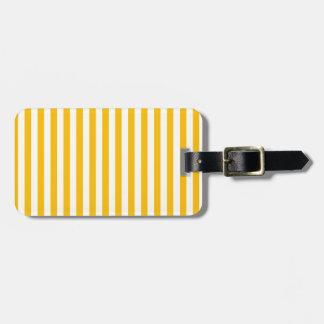 Dünne Streifen - Weiß und Bernstein Gepäckanhänger
