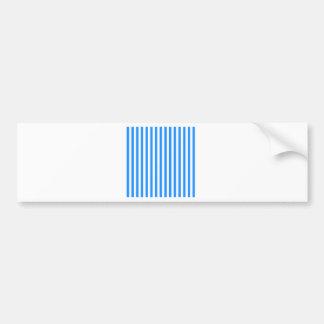 Dünne Streifen - Weiß und Blau Autoaufkleber
