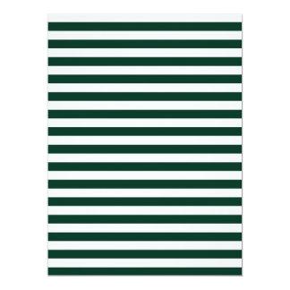 Dünne Streifen - weiß und dunkelgrün 16,5 X 22,2 Cm Einladungskarte