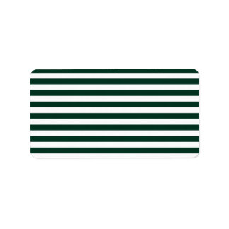 Dünne Streifen - weiß und dunkelgrün Adressaufkleber