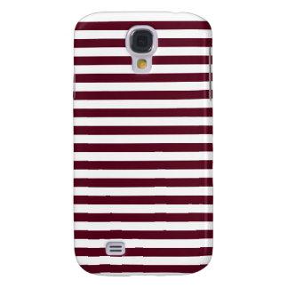 Dünne Streifen - weiß und dunkles Scharlachrot Galaxy S4 Hülle