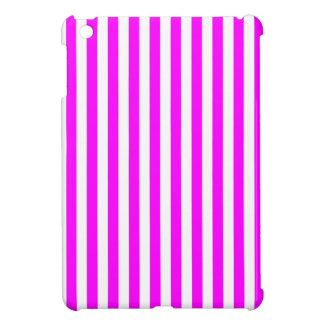Dünne Streifen - Weiß und Fuchsie Hülle Für iPad Mini