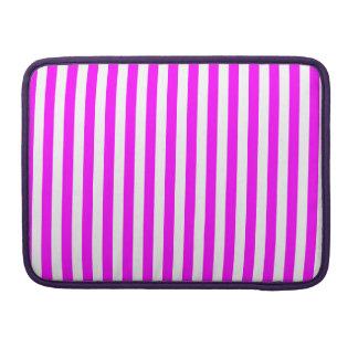 Dünne Streifen - Weiß und Fuchsie Sleeve Für MacBooks