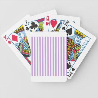 Dünne Streifen - Weiß und Glyzinien Bicycle Spielkarten