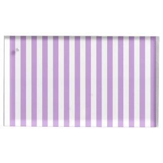 Dünne Streifen - Weiß und Glyzinien Tischkartenhalter