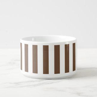 Dünne Streifen - Weiß und Kaffee Kleine Suppentasse