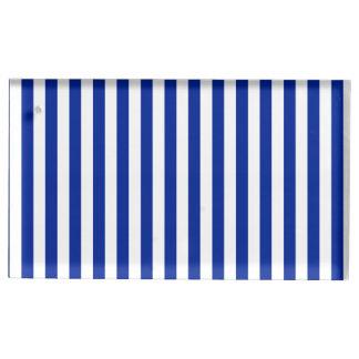 Dünne Streifen - weiß und Kaiserblau Tischkartenhalter