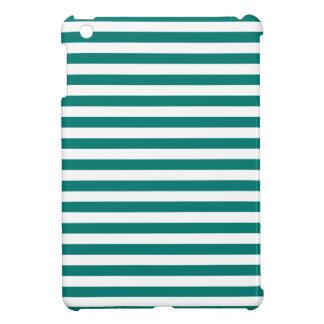 Dünne Streifen - Weiß und Kiefern-Grün iPad Mini Hüllen