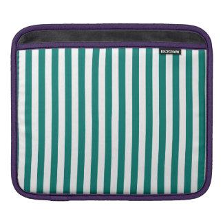 Dünne Streifen - Weiß und Kiefern-Grün iPad Sleeve