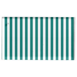 Dünne Streifen - Weiß und Kiefern-Grün Tischkartenhalter