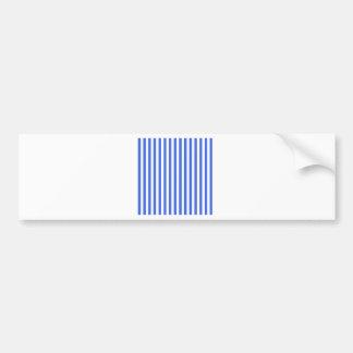 Dünne Streifen - Weiß und Königsblau Autoaufkleber