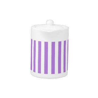 Dünne Streifen - Weiß und Lavendel
