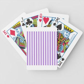 Dünne Streifen - Weiß und Lavendel Bicycle Spielkarten
