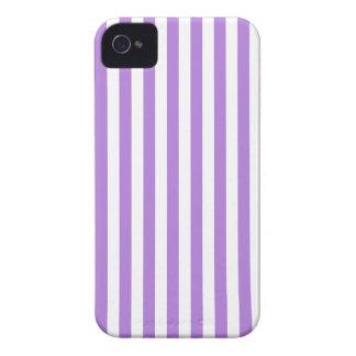 Dünne Streifen - Weiß und Lavendel iPhone 4 Case-Mate Hülle