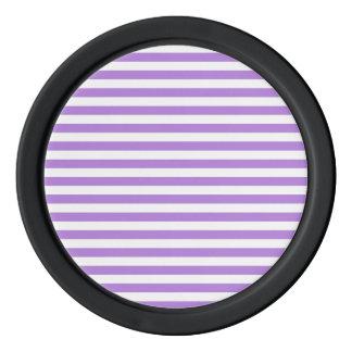 Dünne Streifen - Weiß und Lavendel Poker Chip Set