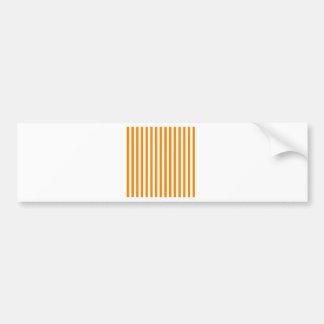 Dünne Streifen - Weiß und Mandarine Autoaufkleber